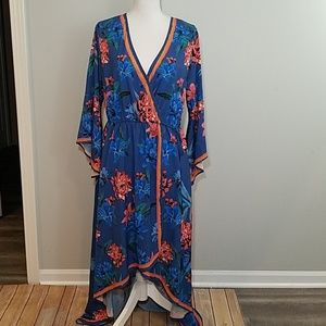 Flying Tomato boho hi low floral maxi dress